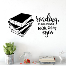 Drop Shipping books quotes Home Decoration Accessories For Living Room Bedroom Wall Art Decal books for living