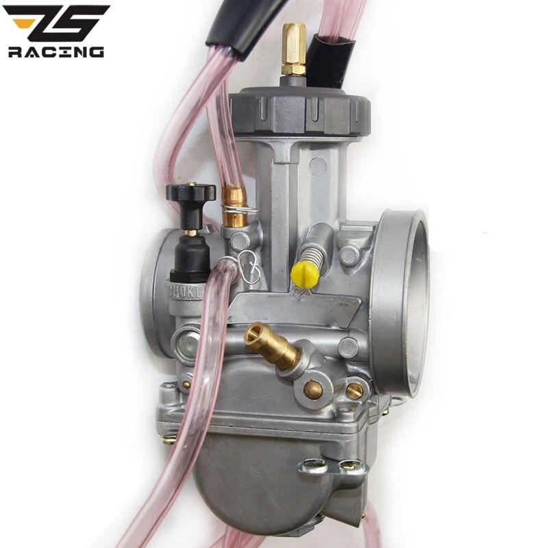 ZS Racing Haute Qualité 33 34 35 36 38 40 42mm Keihin PWK Carburador Moto Carburateur Pour Tous Les 250cc plus grande VTT Dirt Bikes