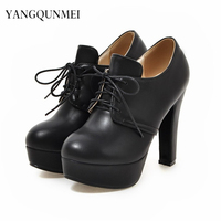 Pumps PU Shoes Woman S Big 43 44 45 46 41 42 Small 32 33 High
