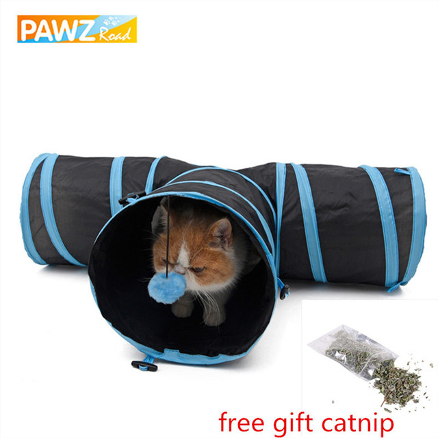 Cat Tunnel Y a Forma di 3 Fori Divertente Pieghevole All'aperto In Casa Durevole