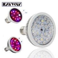 Full Spectrum 54W Red Blue IR UV White LED Grow Light E27 LED Horticulture Lamp For