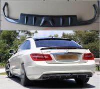 Jioyng 4 розетки заднего бампера v стиля для автомобильных фар задний диффузор для Mercedes Benz W212 W207 C207 E200 E260 E350 купе 2013 2018