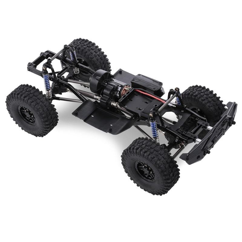 RCtown 313 milímetros Distância Entre Eixos 12.3in Montado Moldura Chassis para 1/10 RC Crawler Carro SCX10 SCX10 II 90046 90047