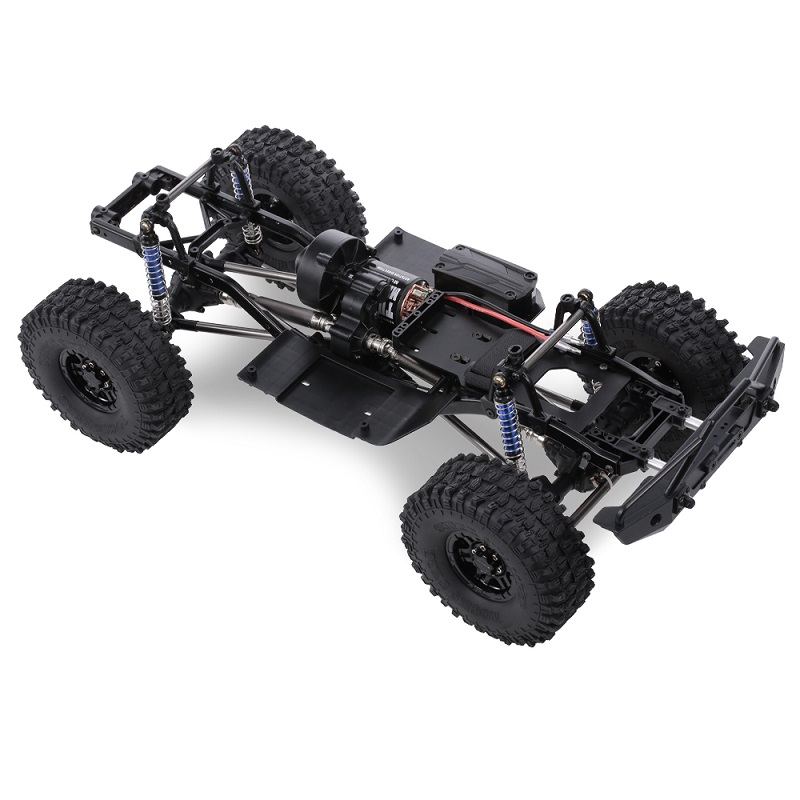 RCtown 313mm 12.3in empattement châssis assemblé pour 1/10 RC voiture sur chenilles SCX10 SCX10 II 90046 90047