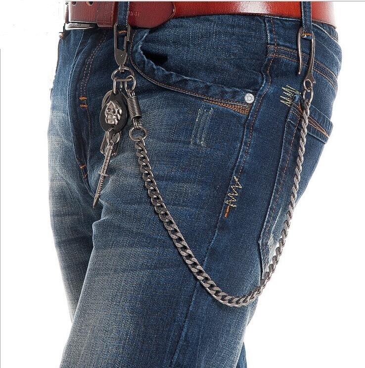 Skull Sword Biker Jeans Chain