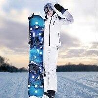 2018 Новый Для женщин сноуборд лыжная куртка + штаны ветрозащитный Водонепроницаемый утолщаются Термальность уличная спортивная одежда отды
