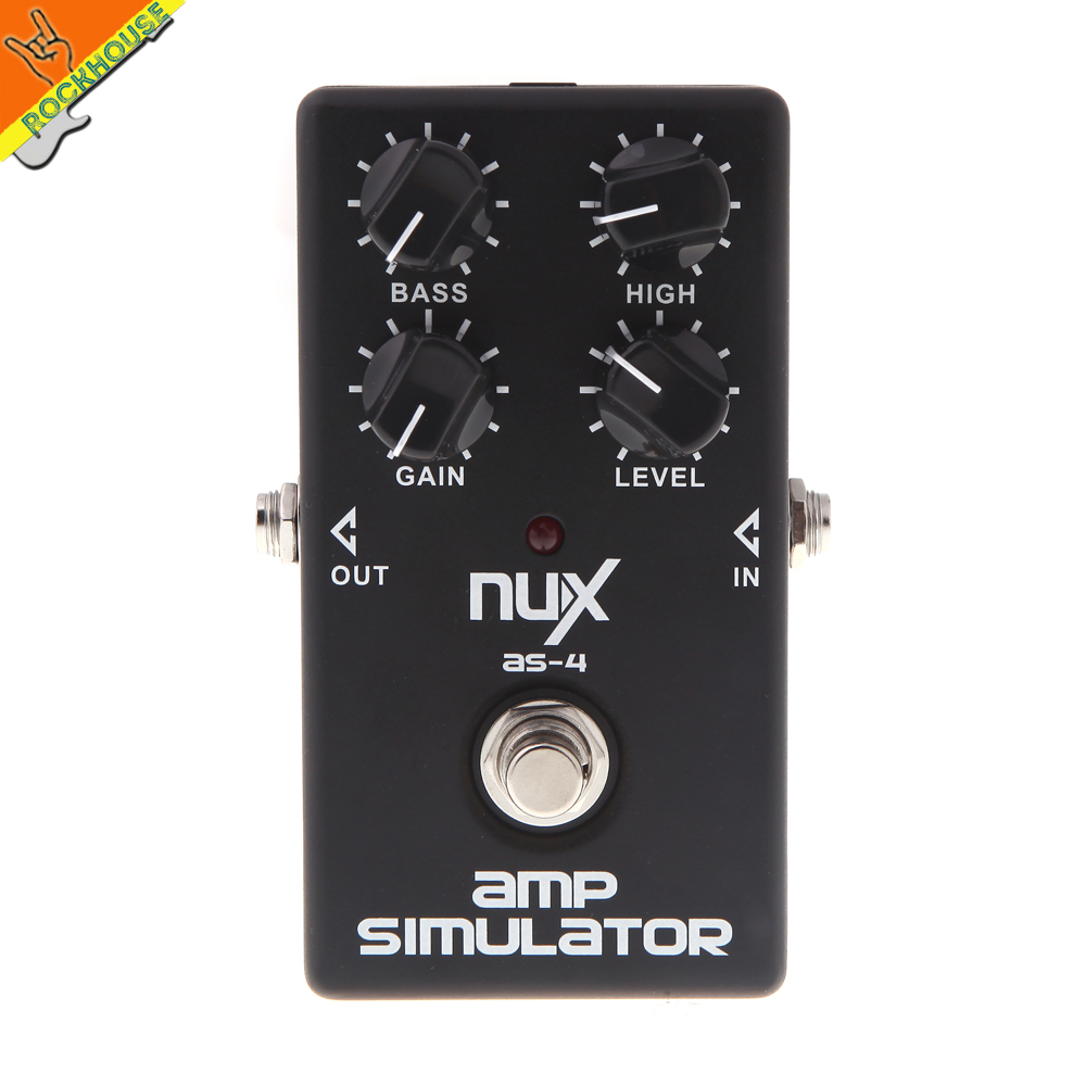 NUX AS 4 AMP Simulator Effects Pedal British tube distortion guitar pedal simulate JCM Amplifier 1960A