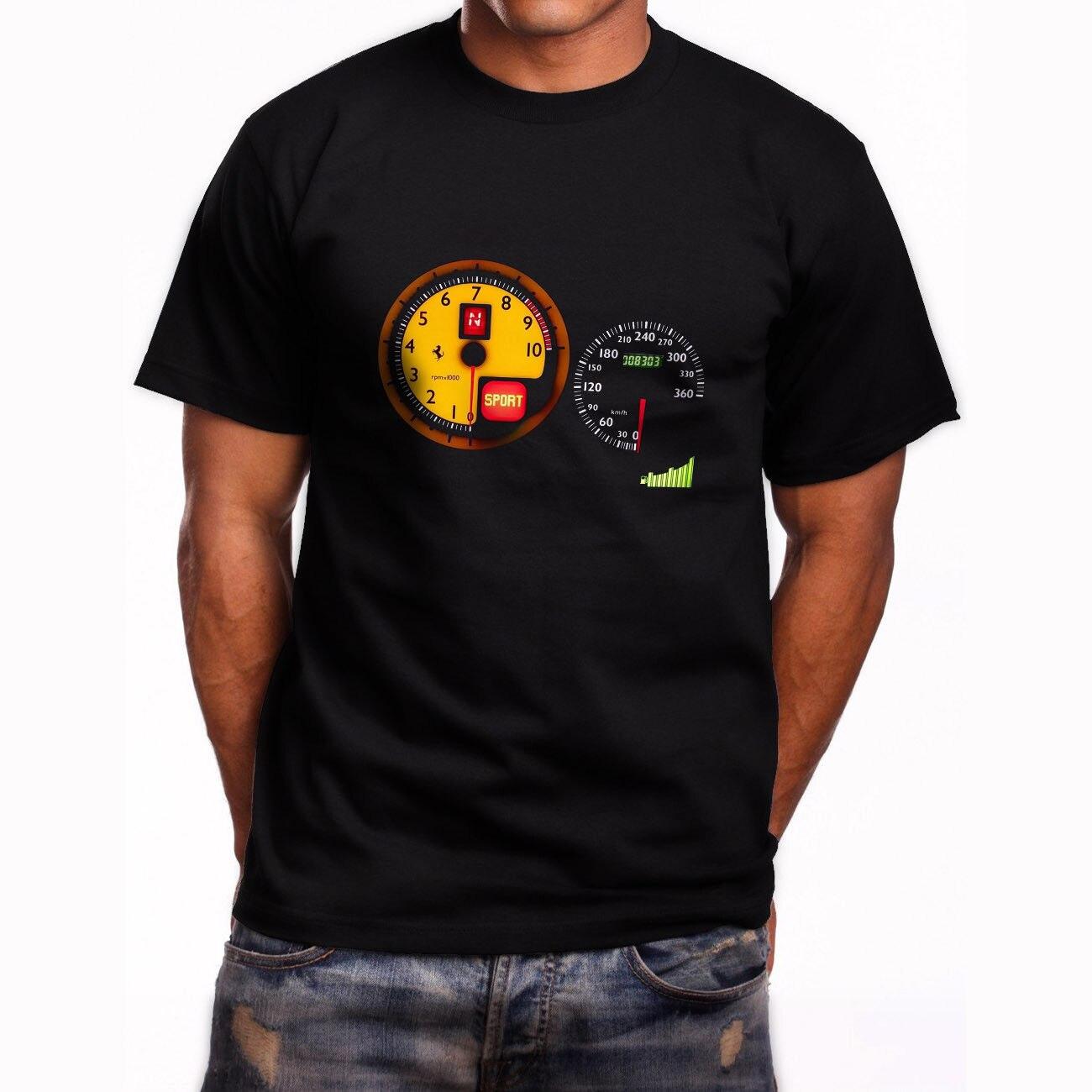 New Speedometer Ferarri F430 Short Sleeve Mens Black T-Shirt Size S to 3XL Mens T Shirt  ...