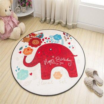 Elefanten Yoga-Matte Wohnkultur Kinderzimmer Teppich Soft Spielen Kriechende Matte Runde Cartoon Tier Teppiche Für Wohnzimmer Schlafzimmer