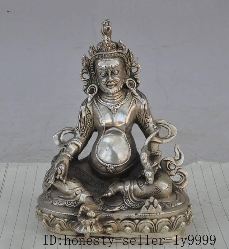 Artisanat statue tibet bouddhisme argent richesse souris lotus jaune Jambhala bouddha Mammon statue halloweenArtisanat statue tibet bouddhisme argent richesse souris lotus jaune Jambhala bouddha Mammon statue halloween