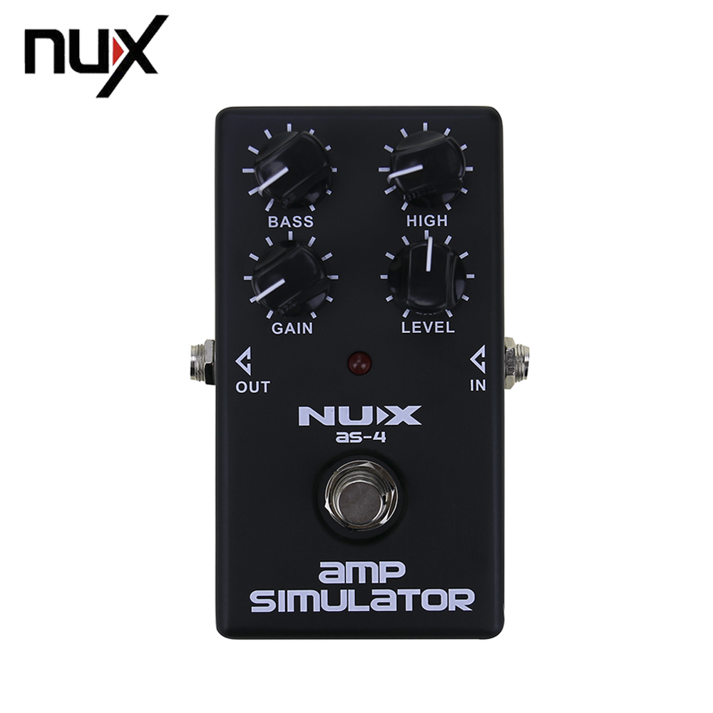 NUX AS-4 Amplifier Simulator Distortion Electric Guitar Effect Pedal True Bypass Guitarra Effectors Musical Instrument aroma adr 3 dumbler amp simulator guitar effect pedal mini single pedals with true bypass aluminium alloy guitar accessories