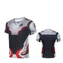 Hot The Avengers 4 Endgame Quantum Realm Cosplay T-shirt Women Men Superhero Event Costume Mesh Cloth T shirt Tops Tee