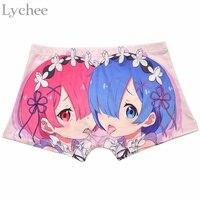 Harajuku Japan Anime Zero Ram Rem Women Panties Cartoon Cosplay Sexy Briefs Boyshort Underwear