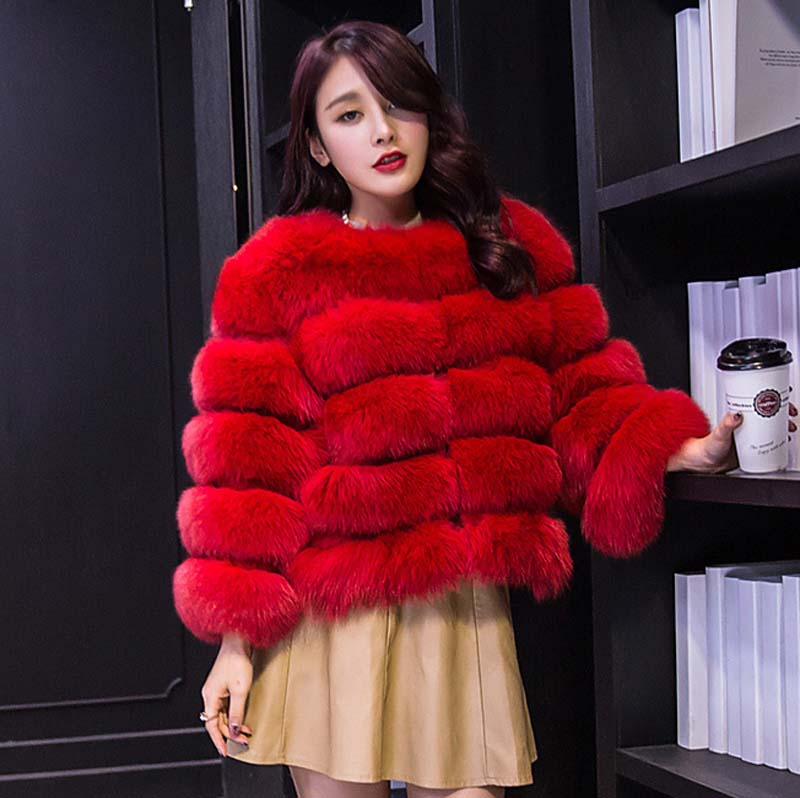Women Winter New Fashion Faux Fur Coat Elegant Thick Warm Outerwear Fake Fur Jacket S-3XL For Women