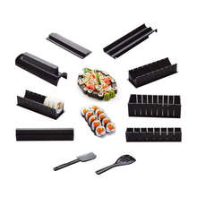 10 Pics/Set Diy Sushi Maker Onigiri Mold Rice Mould Kits Kitchen Bento Accessories Tools Combination Roll Ball Tool