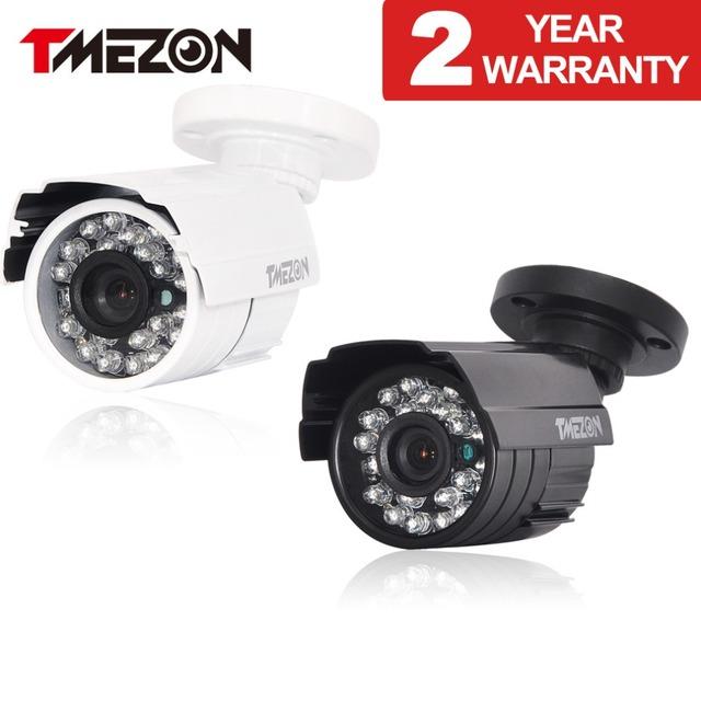 Tmezon hd 800tvl 900tvl 1200tvl cámara principal de vigilancia de seguridad cctv sistema al aire libre impermeabiliza ir-cortó la visión nocturna de 24 led cam
