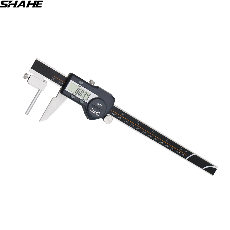 цена на digital tube thickness caliper steele vernier caliper electronic paquimetro digital 200 mm vernier calipers