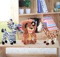Atacado e varejo de brinquedos de pelúcia Madagascar leão Zebra girafa de pelúcia brinquedo de presente para criança