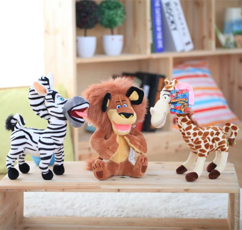 And Retails Plush Toys Madagascar Lion Giraffe Zebra Plus Toy Soft Gift For Kid
