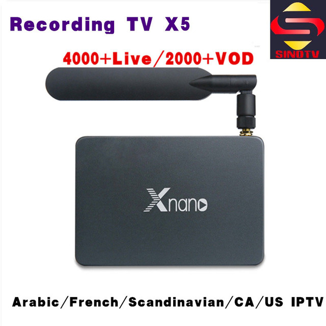 2GB 16GB X5 Recording TV Box With 1 Year SINOTV IPTV 4K Full HD IP TV  French Arabic CA US Portugal Latin America Android Player-in Set-top Boxes  from