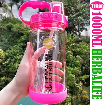1000 ml Tritan BPA free Rose Red przenośne butelka na wodę Herbalife odżywianie z tworzywa sztucznego sportowe niestandardowe Shaker butelka butelka z rurką tanie i dobre opinie Butelki wody Lfgb Ce ue Uchwyt Dorosłych Turystyka Zaopatrzony Ekologiczne Nie posiada Nie ma zastosowania Circle HB00001