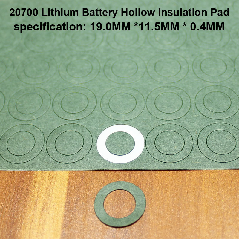 100pcs/lotLithium Battery Positive Insulation Gasket Hollow Flat Head Surface Mat 20700 Insulated Meson Head Gasket 19*11.5MM