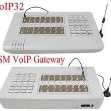 Горячая GoIP32 GSM VOIP шлюз с 32 sim-портами GoIP32 для IP PBX/OIP шлюз/Поддержка сыпучих SMS и DBL SIM банк-Горячая Распродажа