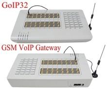 Heißer verkauf GoIP32 GSM Voip-gateway mit 32 SIM ports GoIP32 für IP PBX/OIP gateway/Support massen-sms und DBL SIM Bank-heißer