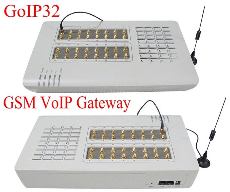 Vendita calda GoIP32 GSM VOIP Gateway con 32 SIM porte GoIP32 per IP PBX/OIP gateway/Supporto bulk SMS e DBL SIM Bank-Hot