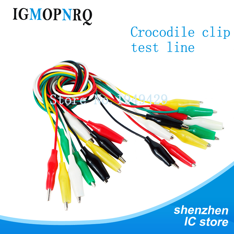 10pcs/lot Alligator Clips Electrical DIY Test Leads Alligator Double-ended Crocodile Clips Roach Test Jumper Wire(China)