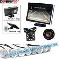 Koorinwoo HD 800*480 Monitor Parkmaster System 8 Car Reverse Radar Parking Sensors Buzzer Alarm Warn Auto Rearview camera Front