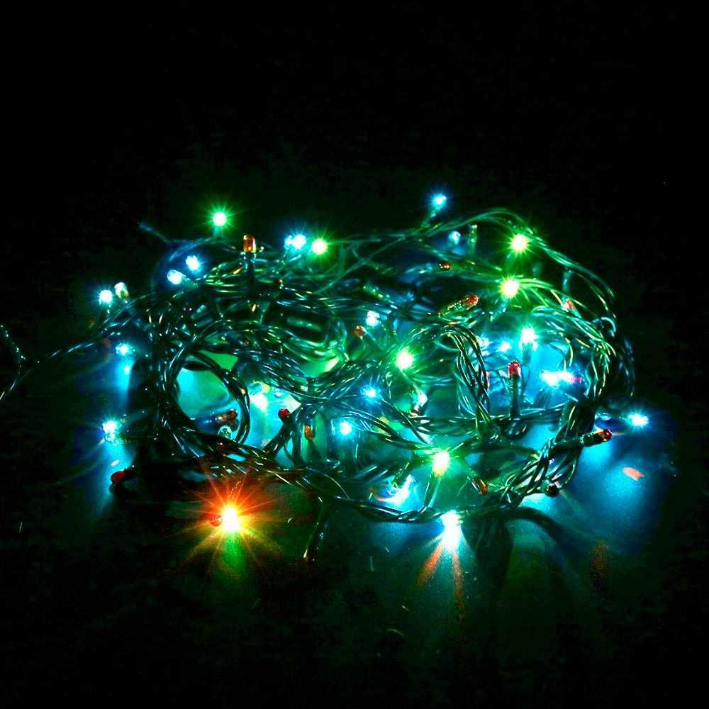 Светодиодный гирлянды и формирующая листы для кровли 4 м 100 светодиодный s праздник разных цветов с контроллером Сбывание фабрики для вечерние сада на день рождения украшения для рождественской елки
