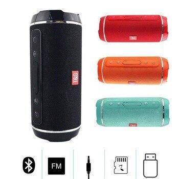 SOONHUA TG-116 נייד עמיד למים Bluetooth רמקול חיצוני USB FM TF כרטיס אלחוטי סאב בס מיני טור תיבת רמקול