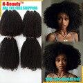 Ofertas de paquete del pelo brasileño teje Rizado kurly 10A, 100% extensión Del Pelo humano natural brasileño afro pelo rizado
