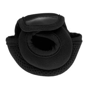 Image 4 - Kołowrotek wędkarski do rzucania przynęty osłony tarczy neoprenowy pokrowiec na kołowrotek odporny na zużycie kołowrotek torby czerwony/czarny 3.9x3.1x2.8 cala
