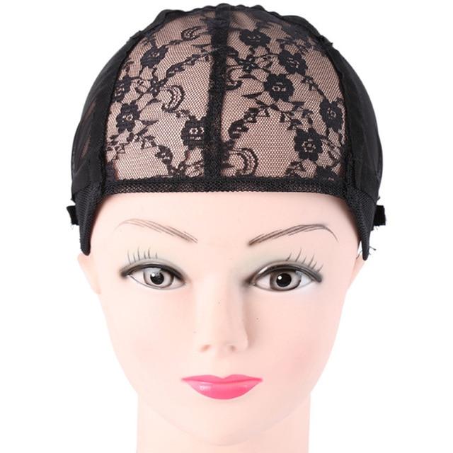 1c1fd7445b8c1 Gorro cerrado elastico. 1 unid doble Peluca de encaje gorras para hacer  pelucas y pelucas .