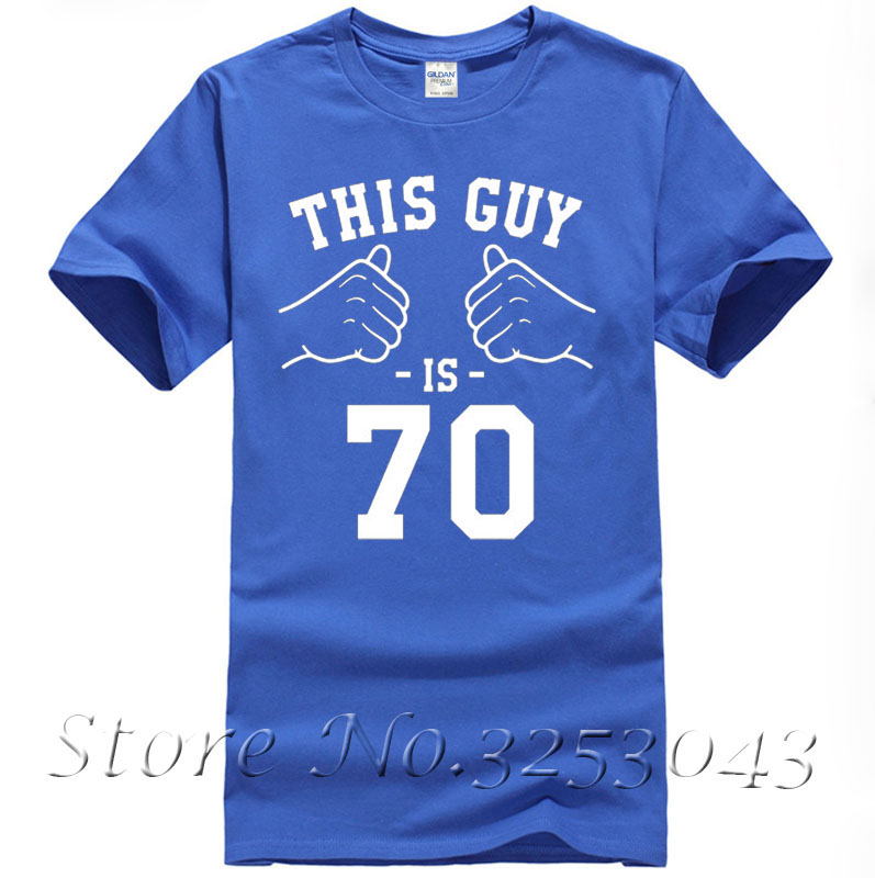 70th Birthday Gift Ideas For Men Bday Shirt Presents Him T B Day This Guy Is 70 Years Old Mens In Shirts From Clothing On