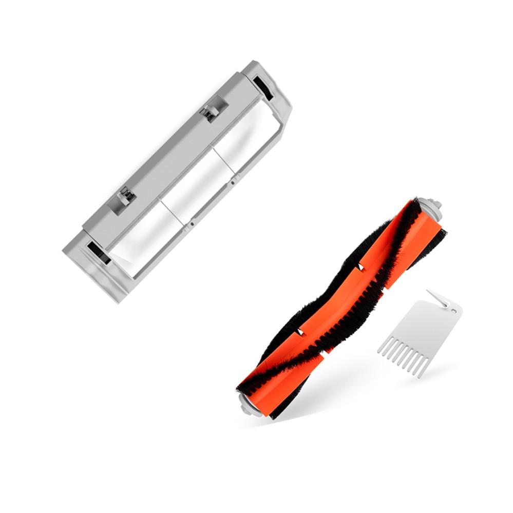 все цены на Original Xiaomi Robotic Rolling Brush Cover Main Brush Box + Main Brush + tool for xiaomi vacuum replace xiaomi mi Robot