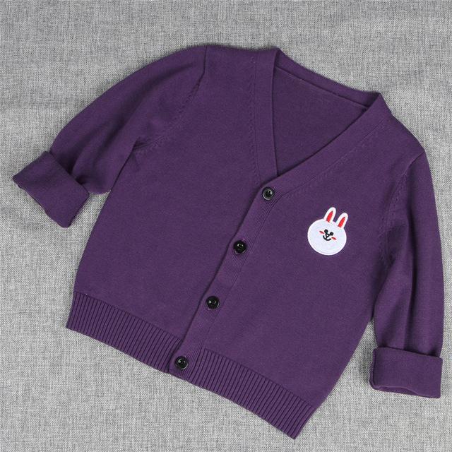 Primavera Do Bebê Do Outono Camisola de Malha Para Meninas Meninos Manga Comprida Botão Cardigan Casaco Crianças Roupas Blusas AS-1576-3