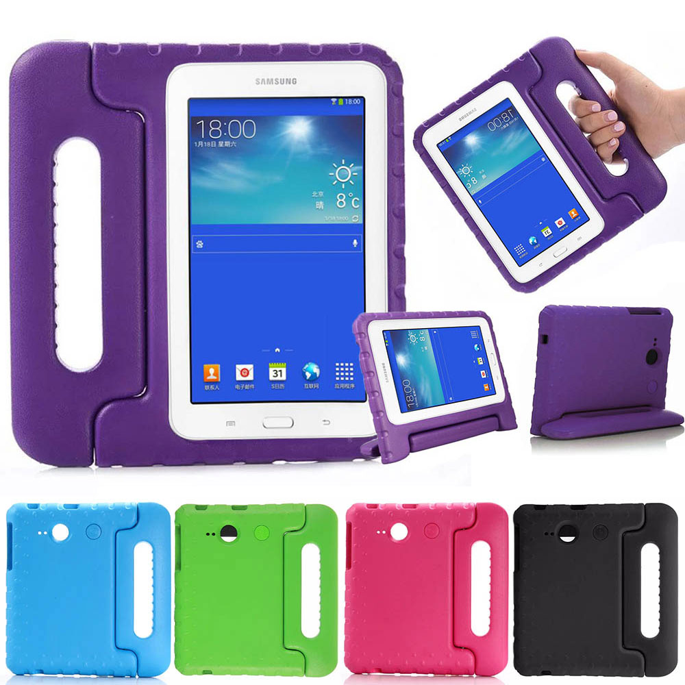 promo code 3766e bfee5 US $13.99 29% OFF|Kids Children Shockproof Case For Samsung GALAXY Tab 3  Lite T110 Tab E Lite 7.0 SM T113 EVA Foam Tablet Stand Protective Cover-in  ...