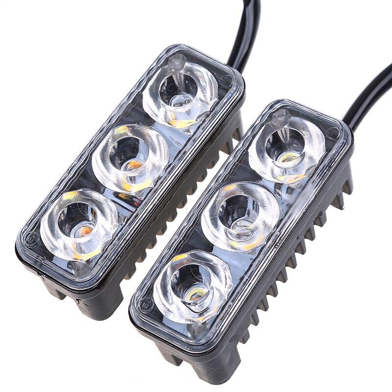 Car Styling Car DRL LED Daytime Running Lights With Lens 12V Super White 6000K DRL Led