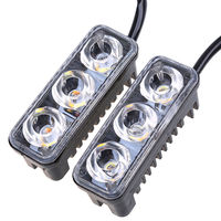 Car Styling Car DRL LED Daytime Running Lights With Lens 12V Super White 6000K DRL Led