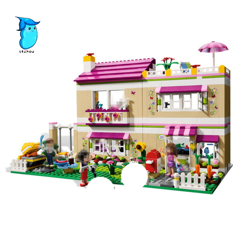 StZhou 10164 659pcs compatiable with legoe Friends Olivia's House building bricks blocks Toys for children Girl Game Castle Gift gonlei 10407 friends pop star tour bus building blocks sets bricks toys girl game house gift compatible with