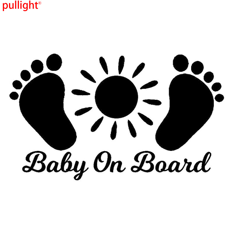 15.2*9CM BABY ON BOARD Personalized Car Tail Warning Stickers Cartoon Car Accessories Decorative Decals