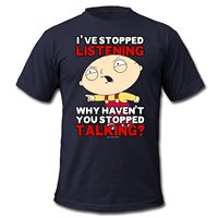Stewie Stopped Men S T Shirt By American Apparel O Neck T Shirt Harajuku Tops Tees
