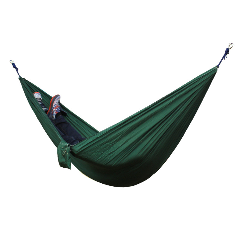 Outdoor Parachute Hammock Portable Hammocks Travel leisure Garden Swings Hiking Lightweight Nylon Camping Hammock beds 300 200cm 2 people hammock 2018 camping survival garden hunting leisure travel double person portable parachute hammocks
