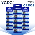 25pcs/lots CR2032 DL2032 Cr 2032 3V 210mAh Lithium Button Coin battery in retailing package for watch ,toy 40%off
