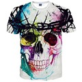 2017 New Fashion Brand T-shirt Hip Hop 3d Print Skulls Harajuku Animation 3d T shirt Summer Cool Tees Tops Brand Clothing