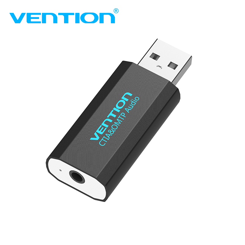 Vention USB Eksternt Lydkort USB til AUX Jack 3,5 mm Earphone Adapter Audio Mic Lydkort 5.1 Gratis Drev til Computer Laptop