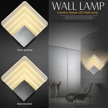 Artpad 5w Aluminum Contemporary Wall Lights Square Corridor Hotel Bedside Lamp Art Bedroom LED 110V-220V